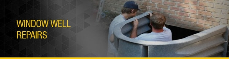 Window Well Repairs to Fix Wet Basement